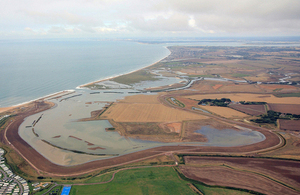 Medmerry after flooding