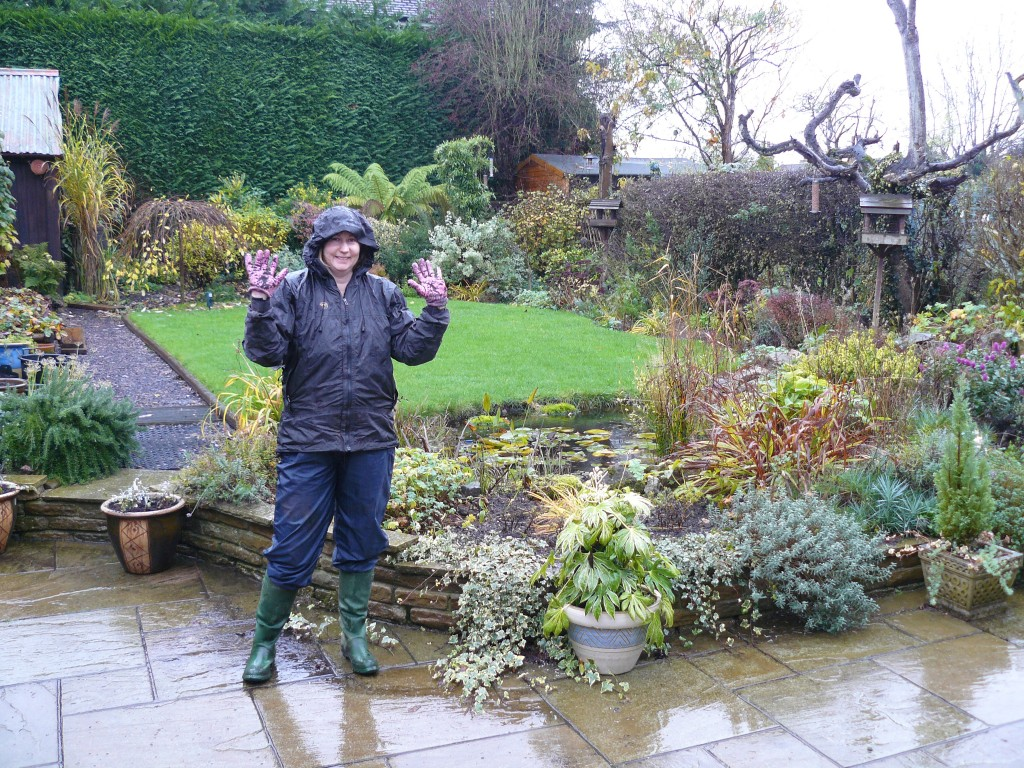 the right clothing for wet weather gardening