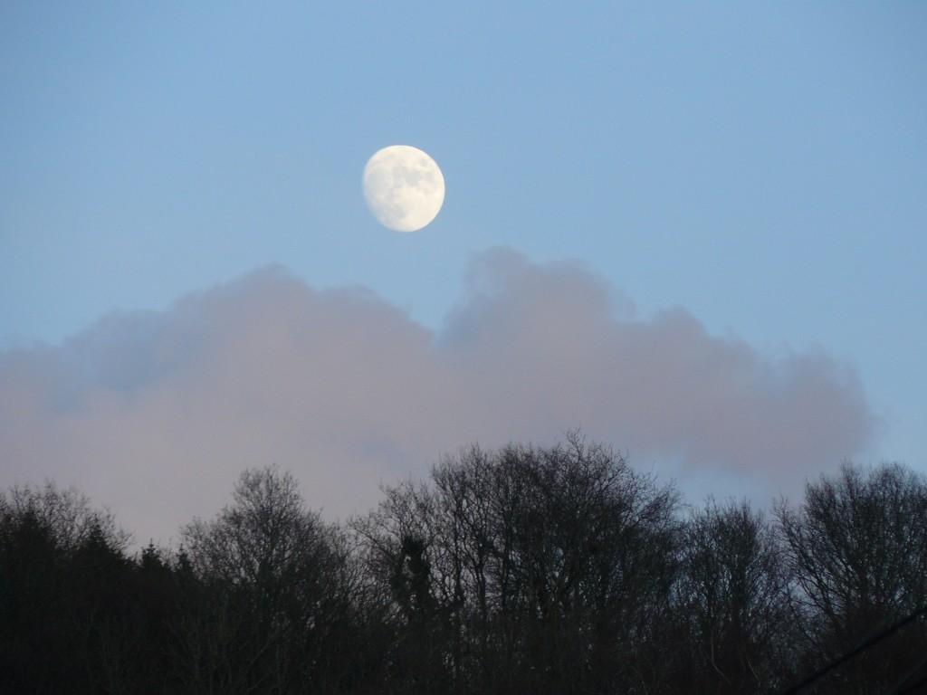 Moon rising over Exmoor