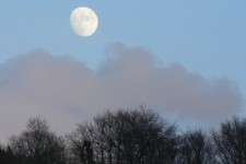 Moon rising over Exmoor
