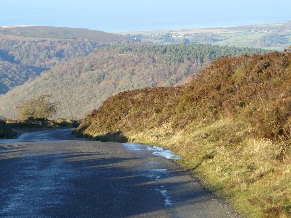 Looking back down Dunkery Hill