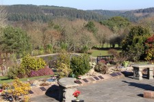 The view from Glynn Valley crematorium remembrance gardens