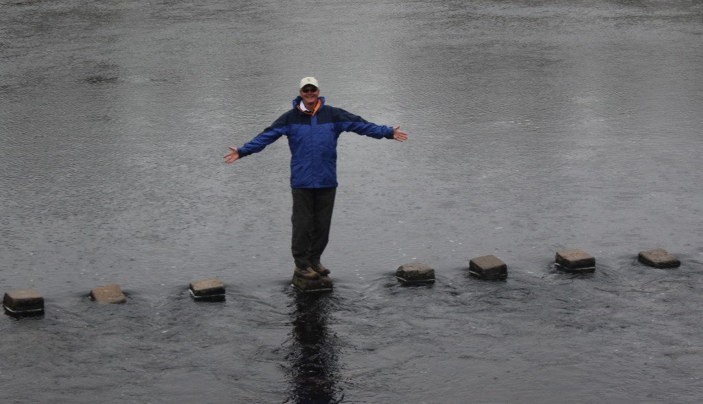 Bolton Abbey stepping stones on River Wharfe
