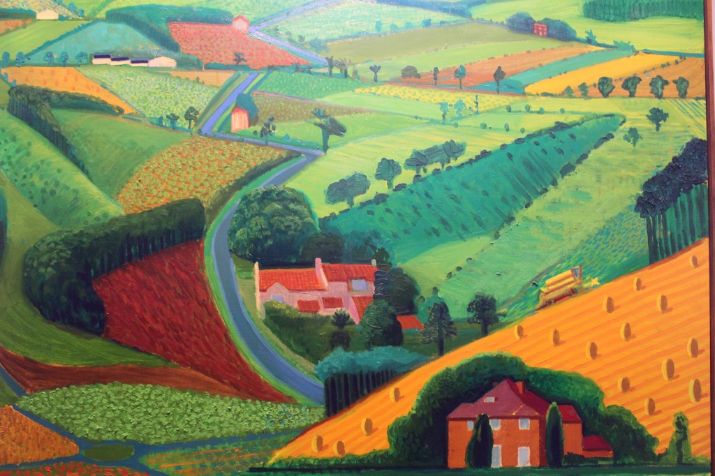 Road across the Wolds, 1997, by David Hockney