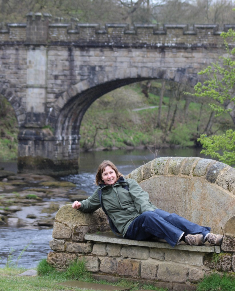 Rest stop by the river, Bolton Abbey