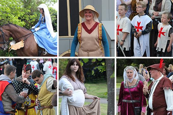 Odiham village Magna Carta parade, medieval style