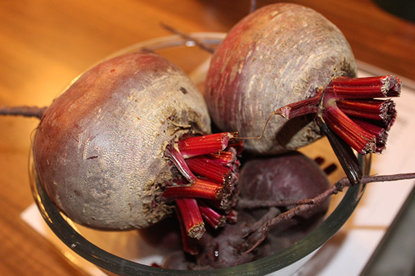 Wash and trim your beetroot before cooking