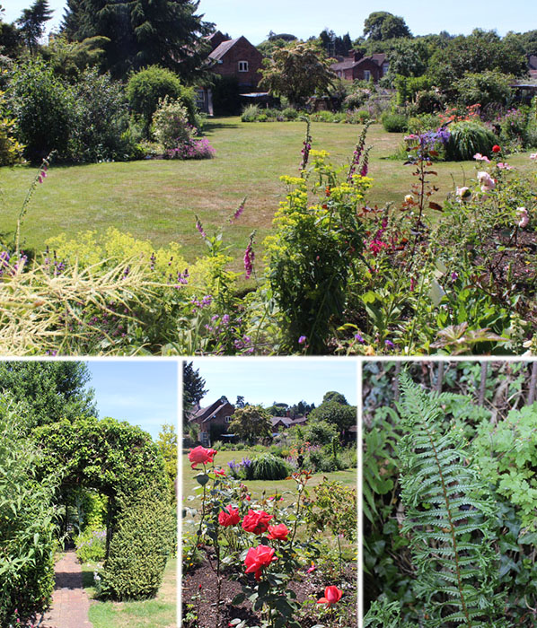 Here, a huge expanse of lawn had been cleverly cut into sweeping borders filled with shrubs, perennials, roses and bulbs for year-round interest. Described by the owner as a 'plantaholic's paradise', the borders were full of fascinating specimens. Most were helpfully labelled, but I'm still looking a few up!