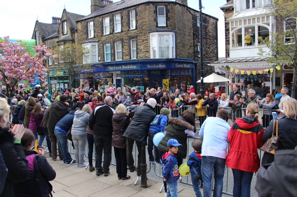 The anticipation of the crowd, high street, Ilkley