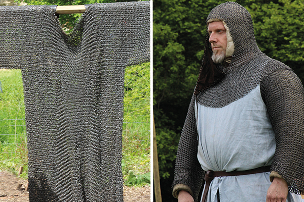 Medieval knight in chain mail