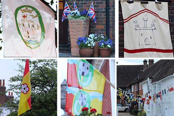 The flags of Odiham