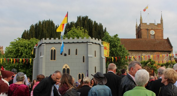 Magna Carta event in The Bury, Odiham, outside All Saints Church