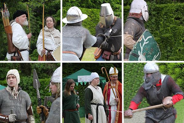 Medieval re-enactors, Odiham Magna Carta celebrations