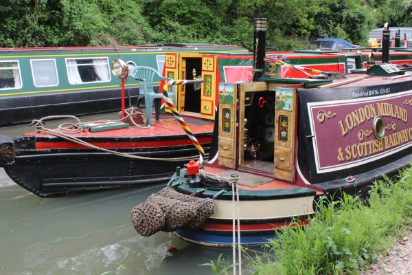 Canal boats at Odiham wharf