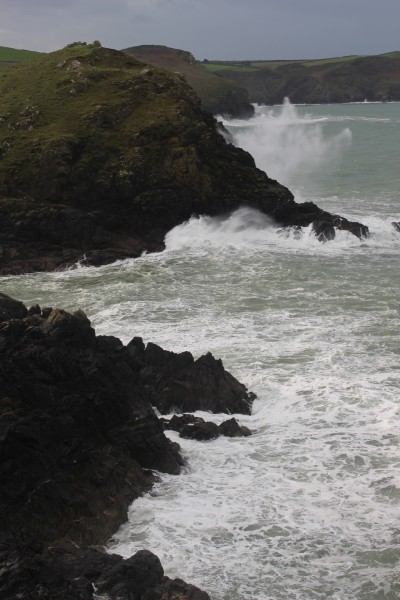 Wind and waves overlooking Portquin