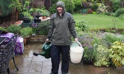 Gardening-in-rain