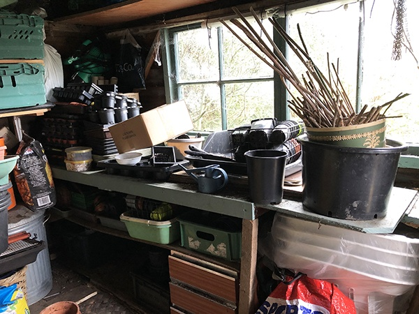 An untidy shed
